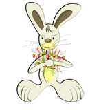 Rabbit with forest flowers Royalty Free Stock Photos