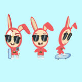 Rabbit Funny Characters Royalty Free Stock Images