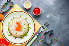 Rabbit galantine aspic for Easter Stock Image