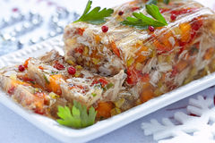 Rabbit galantine with vegetables Stock Photography