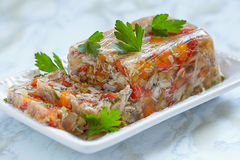 Rabbit galantine with vegetables Royalty Free Stock Photography