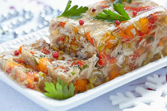 Rabbit galantine with vegetables Stock Images