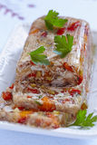 Rabbit galantine with vegetables Royalty Free Stock Photos