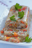Rabbit galantine with vegetables Royalty Free Stock Photo