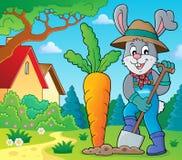 Rabbit gardener theme image 2 Royalty Free Stock Images
