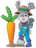 Rabbit gardener theme image 1 Royalty Free Stock Photos