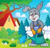 Rabbit gardener theme image 4 Stock Photography
