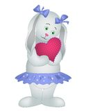 Rabbit-girl with heart Royalty Free Stock Photos