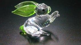 Rabbit glass miniature Royalty Free Stock Image