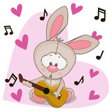 Rabbit with guitar Royalty Free Stock Photos