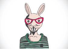 Rabbit and happy easter design. An images of rabbit and happy easter design stock illustration