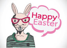 Rabbit and happy easter design Stock Photos