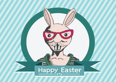 Rabbit and happy easter design Royalty Free Stock Image