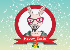 Rabbit and happy easter design Royalty Free Stock Photography