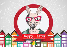 Rabbit and happy easter design. An images of  rabbit and happy easter design Royalty Free Stock Image