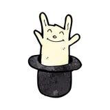 Rabbit in hat cartoon Stock Photos