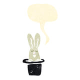 Rabbit in hat trick retro cartoon Royalty Free Stock Photos