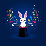 Rabbit in hat Royalty Free Stock Image