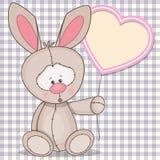 Rabbit with heart Stock Photo
