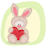 Rabbit with heart Royalty Free Stock Photography