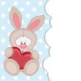 Rabbit with heart Royalty Free Stock Image