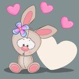 Rabbit with hearts Royalty Free Stock Photos