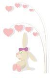 Rabbit and hearts tree Royalty Free Stock Photo