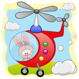 Rabbit in helicopter Royalty Free Stock Image