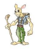 Rabbit Hiker vector illustration