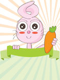Rabbit Hold Carrot_eps Royalty Free Stock Photo