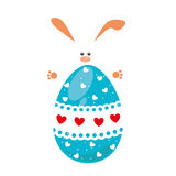 Rabbit holding big easter eggs design. Vector illustration Stock Photo