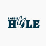 Rabbit hole logo. Template design. Vector illustration Royalty Free Stock Images
