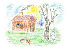 Rabbit house Stock Image