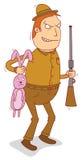 Rabbit hunter Royalty Free Stock Photo