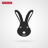 Rabbit icon. royalty free stock photos