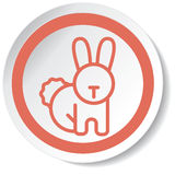 Rabbit icon Royalty Free Stock Photo