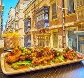 Rabbit In Red Wine, Valletta, Malta Royalty Free Stock Photo