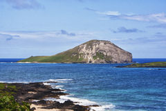 Rabbit Island Hawaii. Rabbit Island is a small island off the shore of Oahu Hawaii royalty free stock image