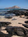 Rabbit island Oahu Hawaii. Rabbit Island in Waimanalo Hawaii Royalty Free Stock Photo
