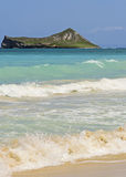 Rabbit Island from Waimanalo Beach Stock Images