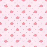 Rabbit japan cake shape pink small symmetry many seamless pattern. This illustration is design rabbit japan cake shape with pink and small dotted symmetry in royalty free illustration