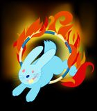 Rabbit jumping Royalty Free Stock Image