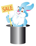 Rabbit  keeps sale Royalty Free Stock Photos