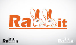 Rabbit label Royalty Free Stock Image