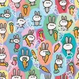 Rabbit language sticker seamless Royalty Free Stock Images