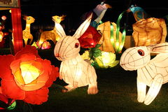 Rabbit light decor Stock Images