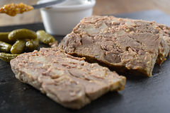 Rabbit liver terrine Stock Images
