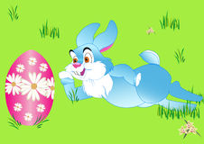 Rabbit and  peaster egg Royalty Free Stock Image