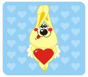 Rabbit in love. Rabbit with Heart Shape. Vector illustration to Valentine's Day Stock Photography