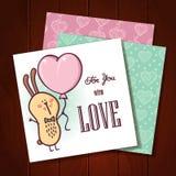 Rabbit love card. Stock Photos